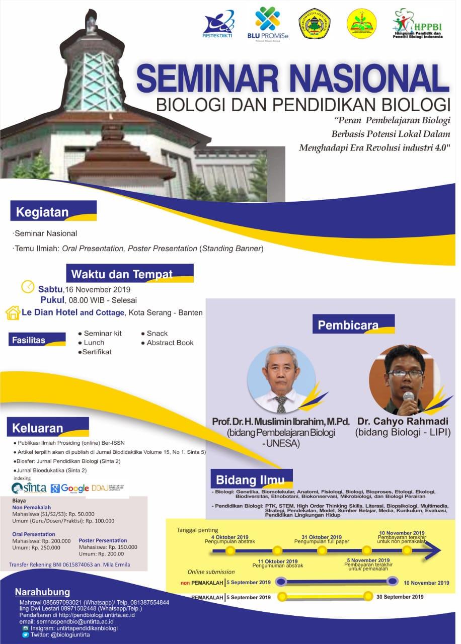 Seminar Nasional Biologi dan Pendidikan Biologi